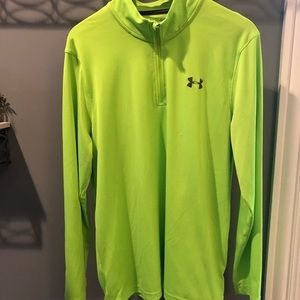 Neon yellow/green underarmor pullover quarter zip